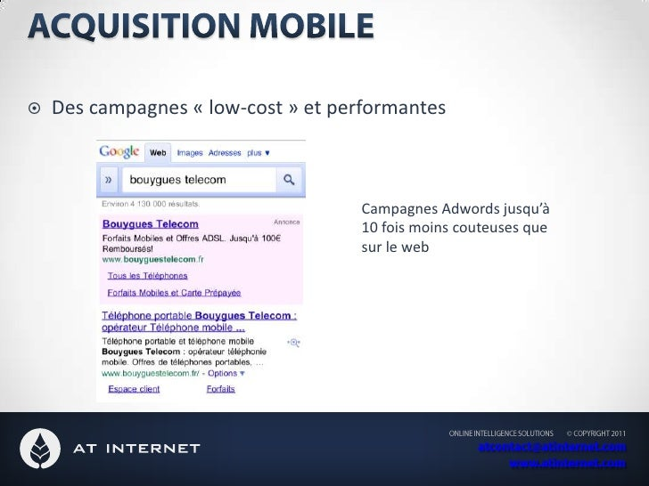 Le marketing mobile : Une partie intégrante de notre stratégie multicanal<br />Fidélité et assistance client<br />Dématéri...