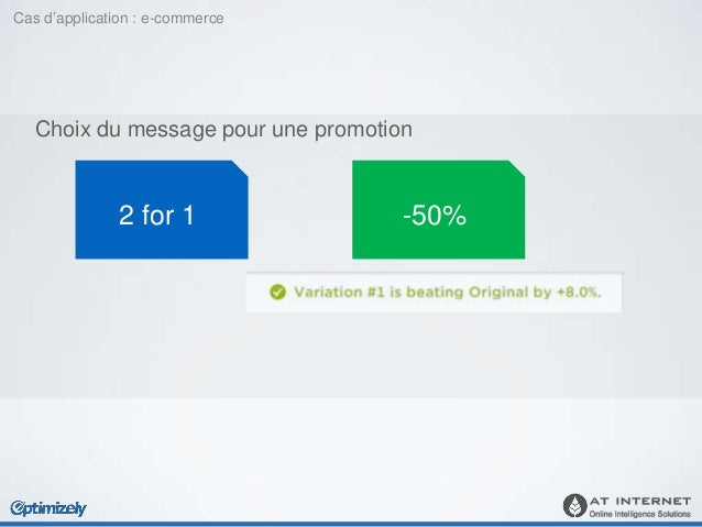 Choix du message pour une promotion Avec Analyzer : vérifier aussi les montants du panier, le nombre de produits achetés 2...