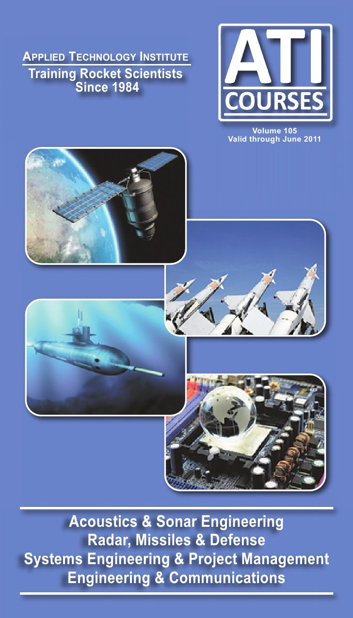APPLIED TECHNOLOGY INSTITUTETraining Rocket Scientists        Since 1984                                      Volume 105  ...
