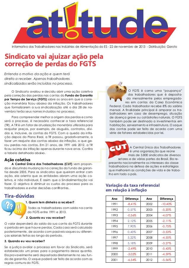 Informativo dos Trabalhadores nas Indústrias de Alimentação do ES - 22 de novembro de 2013 - Distribuição: Garoto  Sindica...