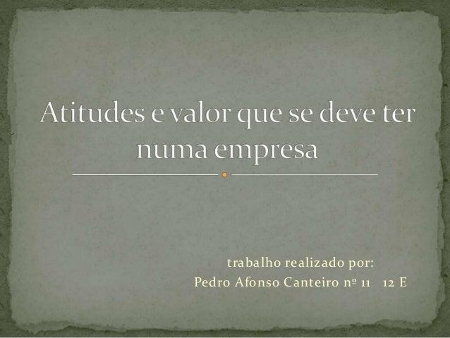 trabalho realizado por: Pedro Afonso Canteiro nº 11 12 E