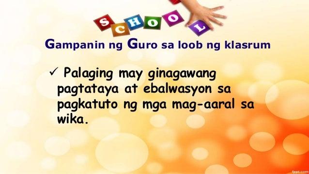 Thesis tungkol sa wikang filipino