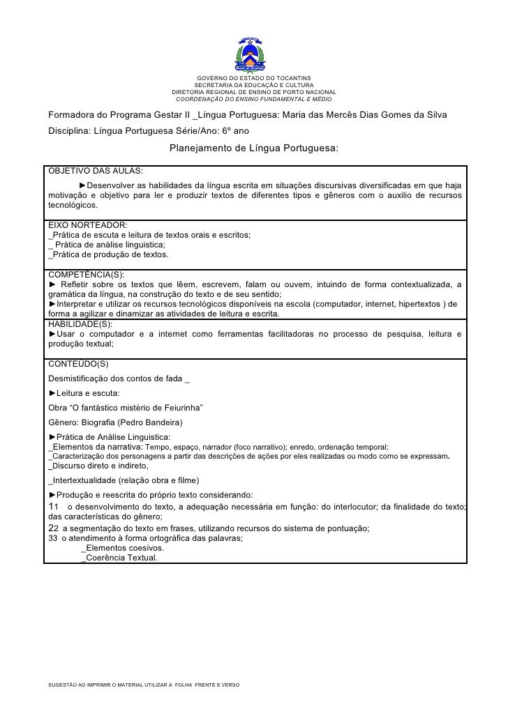 GOVERNO DO ESTADO DO TOCANTINS                                               SECRETARIA DA EDUCAÇÃO E CULTURA             ...