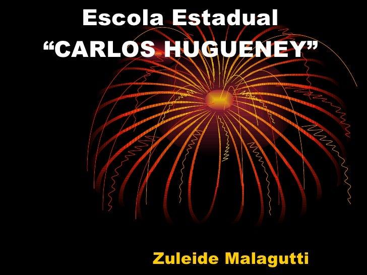 "Escola Estadual ""CARLOS HUGUENEY""            Zuleide Malagutti"