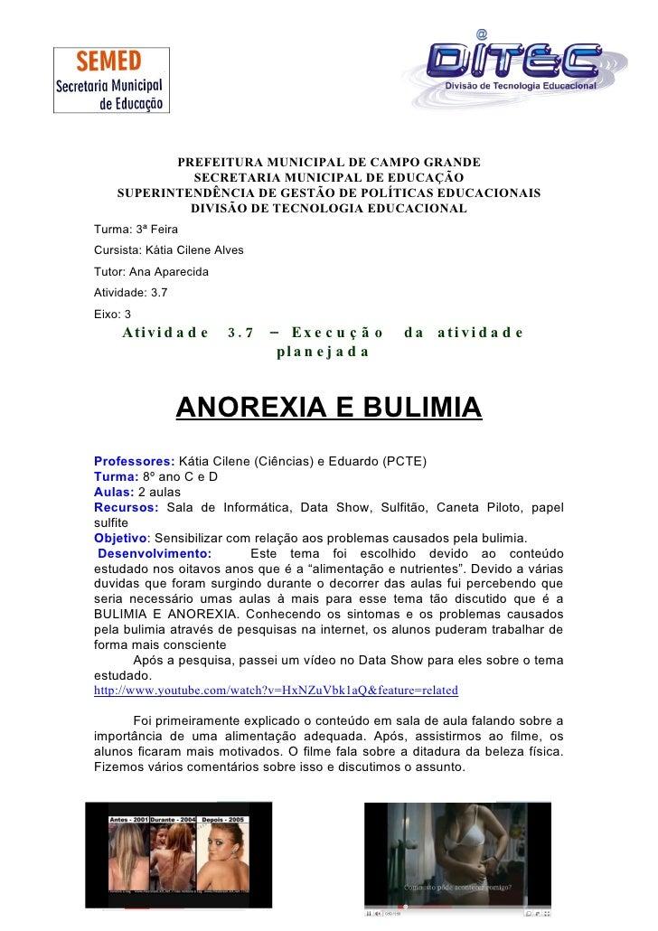 PREFEITURA MUNICIPAL DE CAMPO GRANDE              SECRETARIA MUNICIPAL DE EDUCAÇÃO     SUPERINTENDÊNCIA DE GESTÃO DE POLÍT...
