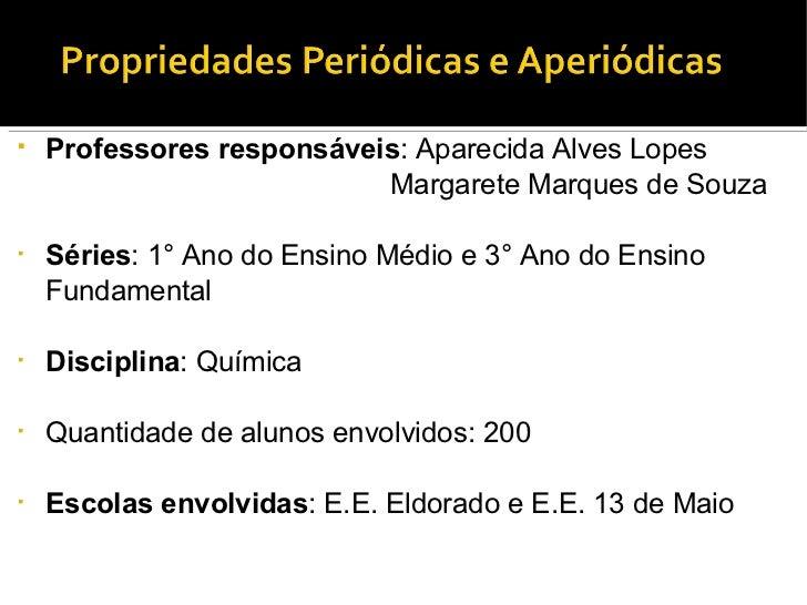 <ul><li>Professores responsáveis : Aparecida Alves Lopes </li></ul><ul><li>Margarete Marques de Souza </li></ul><ul><li>Sé...