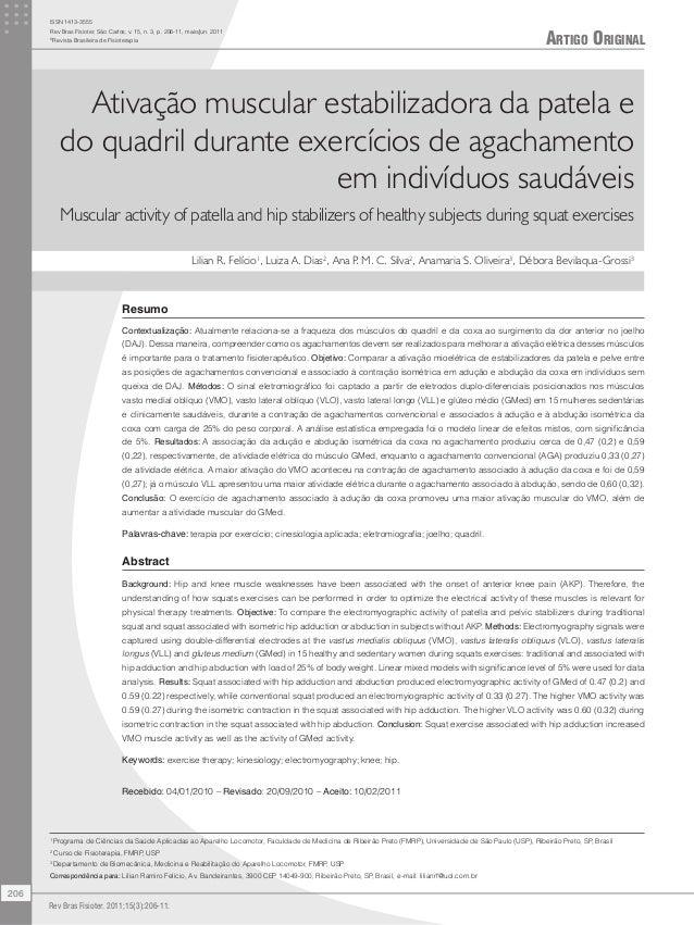 Artigo Original ISSN 1413-3555 Rev Bras Fisioter, São Carlos, v. 15, n. 3, p. 206-11, maio/jun. 2011 © Revista Brasileira ...