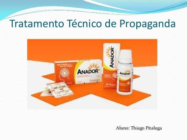 Tratamento Técnico de Propaganda  Aluno: Thiago Pitaluga