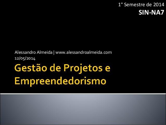 AlessandroAlmeida | www.alessandroalmeida.com 12/05/2014 1° Semestre de 2014 SIN-NA7
