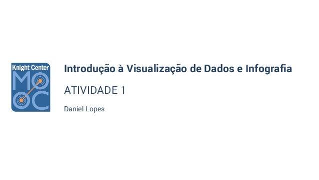 Introdução à Visualização de Dados e Infografia ATIVIDADE 1 Daniel Lopes