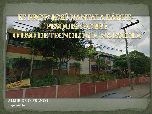 ALMIR DE O. FRANCO E-proinfo