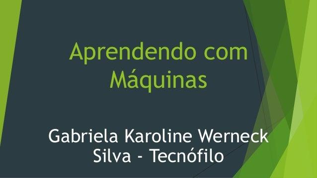 Aprendendo com Máquinas Gabriela Karoline Werneck Silva - Tecnófilo