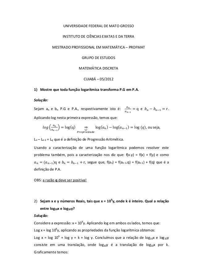 UNIVERSIDADE FEDERAL DE MATO GROSSO INSTITUTO DE CIÊNCIAS EXATAS E DA TERRA MESTRADO PROFISSIONAL EM MATEMÁTICA – PROFMAT ...