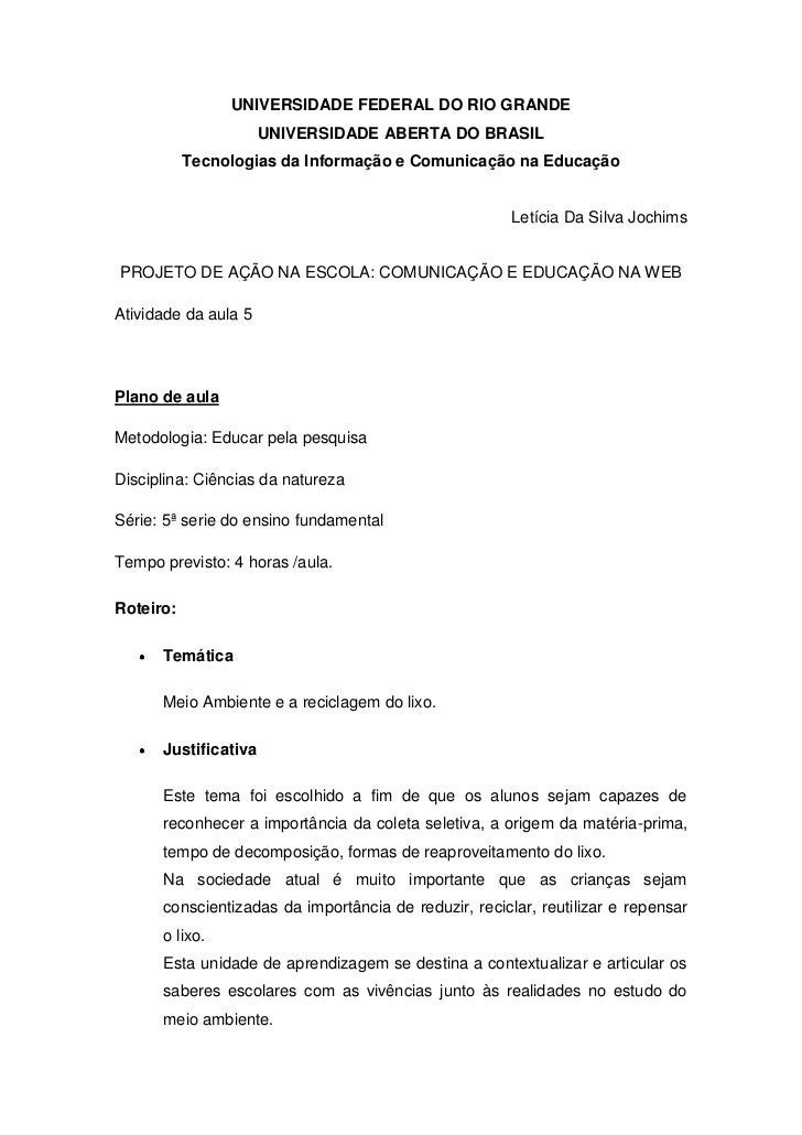 UNIVERSIDADE FEDERAL DO RIO GRANDE<br />UNIVERSIDADE ABERTA DO BRASIL<br />Tecnologias da Informação e Comunicação na Educ...