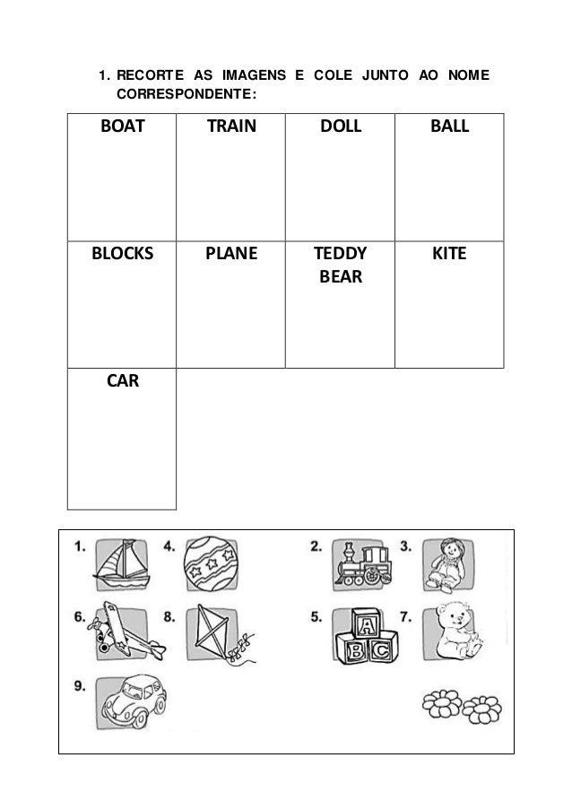 Muitas vezes Atividade de inglês sobre toys RQ28