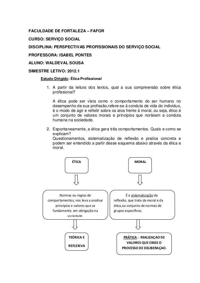 FACULDADE DE FORTALEZA – FAFORCURSO: SERVIÇO SOCIALDISCIPLINA: PERSPECTIVAS PROFISSIONAIS DO SERVIÇO SOCIALPROFESSORA: ISA...