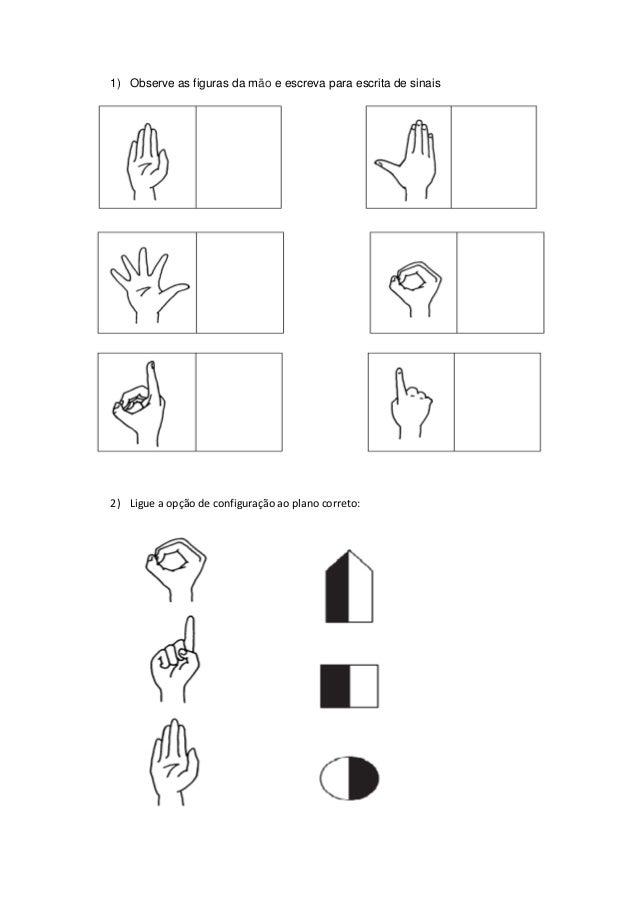 Atividade escrita de sinais
