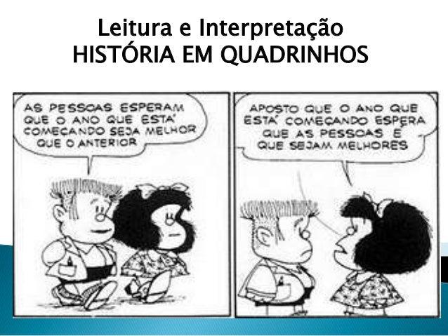 Leitura e Interpretação HISTÓRIA EM QUADRINHOS