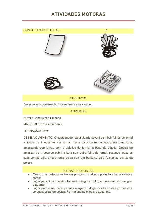 ATIVIDADES MOTORASCONSTRUINDO PETECAS                                           01                                        ...