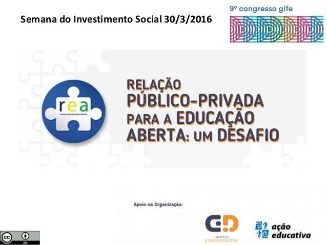 Semana do Investimento Social 30/3/2016