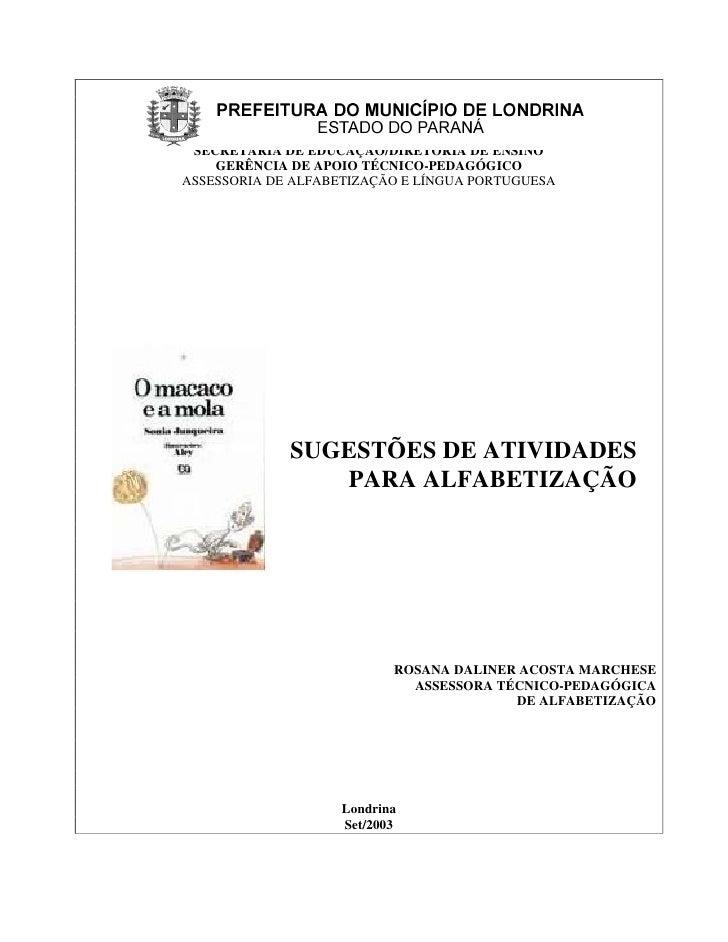 SECRETARIA DE EDUCAÇÃO/DIRETORIA DE ENSINO    GERÊNCIA DE APOIO TÉCNICO-PEDAGÓGICOASSESSORIA DE ALFABETIZAÇÃO E LÍNGUA POR...