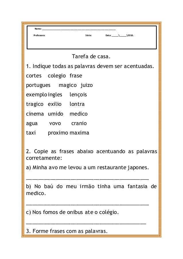 Atividades De Ciencias E Portugues