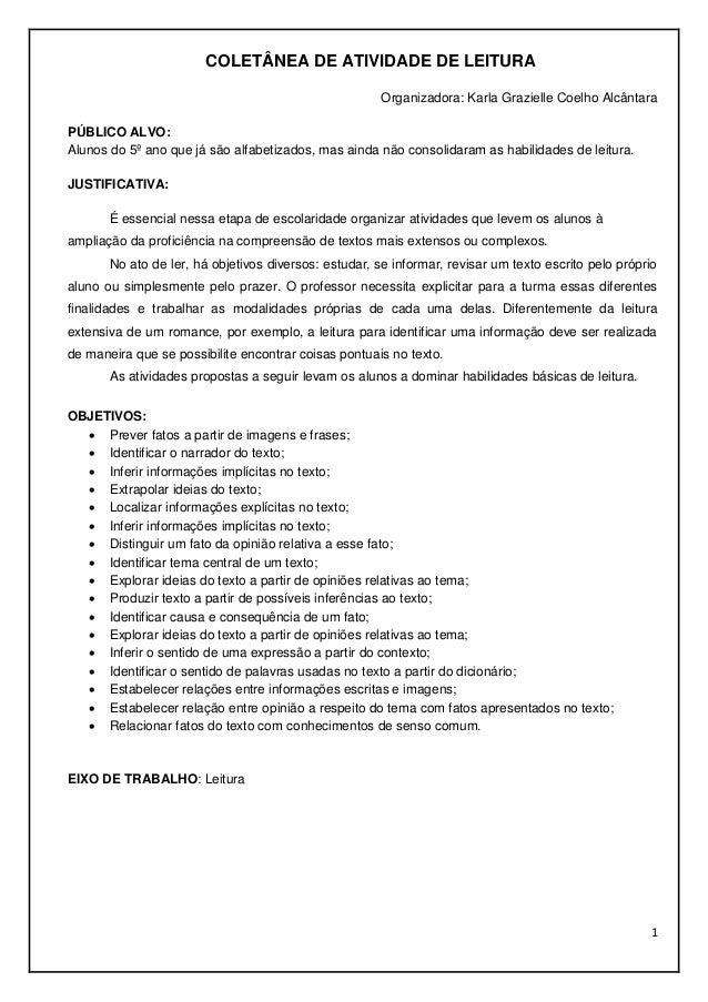 COLETÂNEA DE ATIVIDADES DO 5º ANO Slide 2