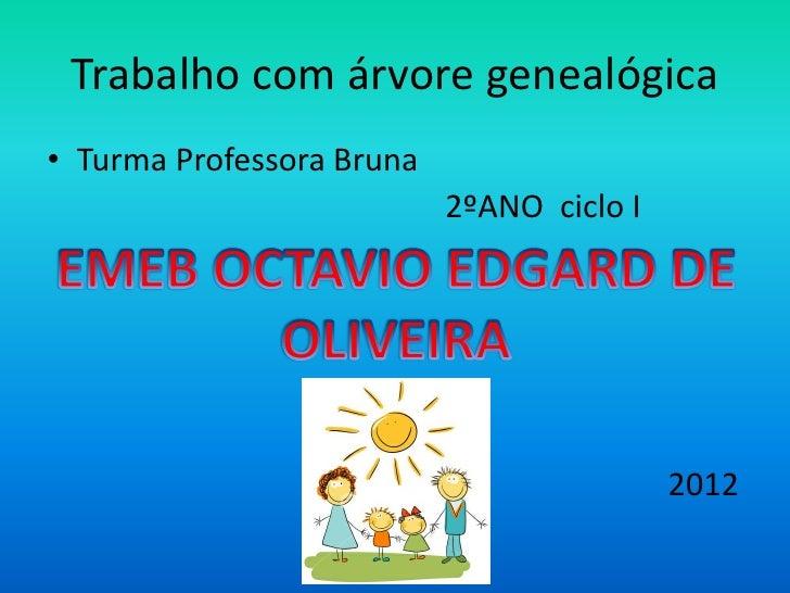 Trabalho com árvore genealógica• Turma Professora Bruna                           2ºANO ciclo I                           ...