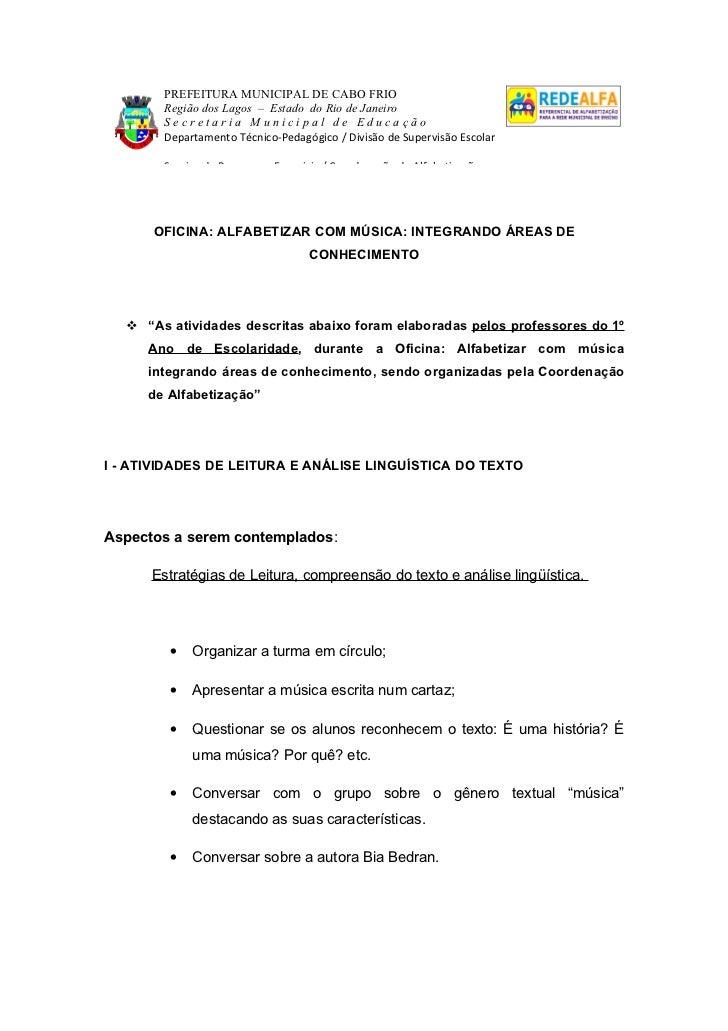PREFEITURA MUNICIPAL DE CABO FRIO        Região dos Lagos – Estado do Rio de Janeiro        Secretaria Municipal de Educaç...