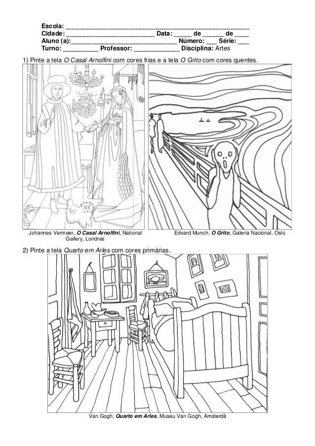 Extremamente Atividades de Artes Técnicas de Pintura SX36