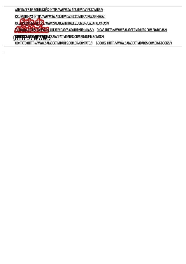 ARTIGOS DEFINIDOS E INDEFINIDOS Atividades de português – Atividades de artigos definidos e indefinidos (http://www.salade...