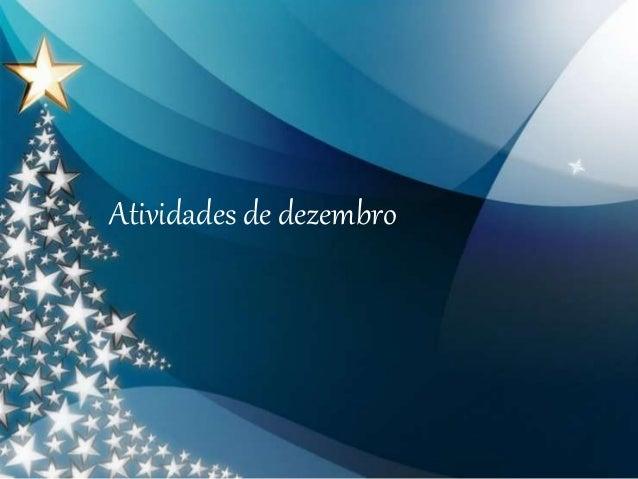 Atividades de dezembro