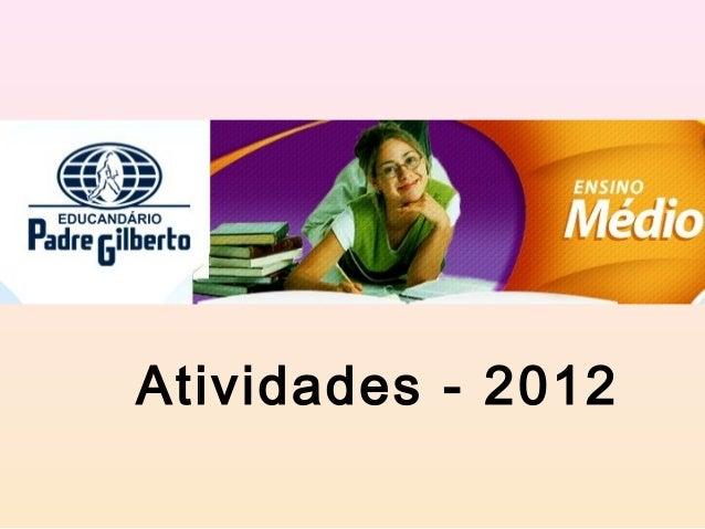 Atividades - 2012