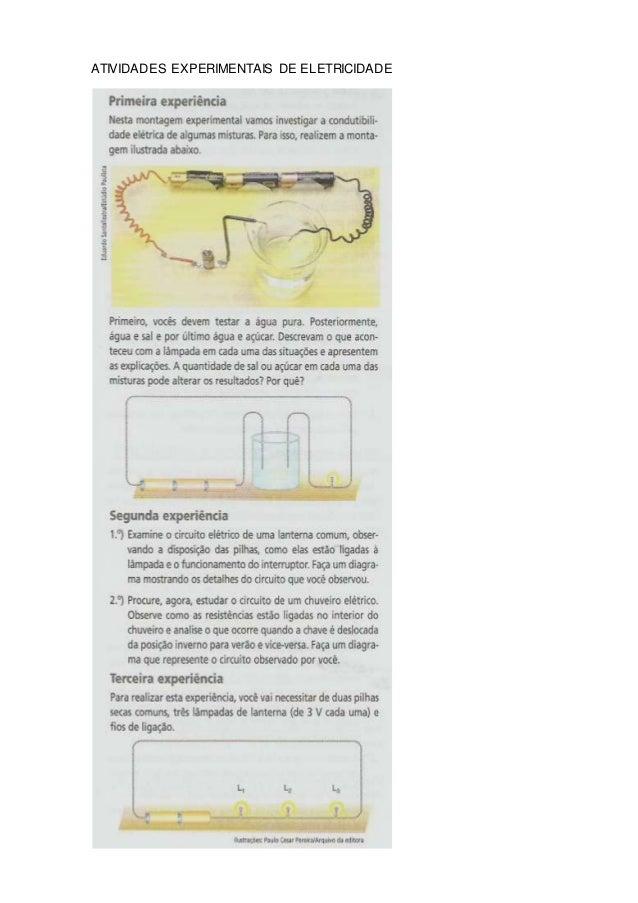 ATIVIDADES EXPERIMENTAIS DE ELETRICIDADE