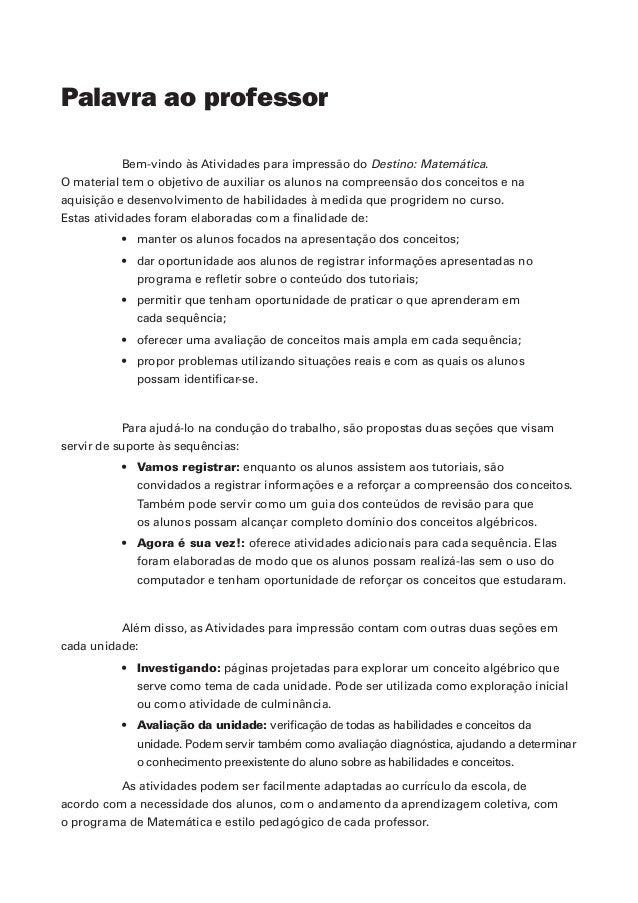 Atividades impressas algebra_i Slide 3