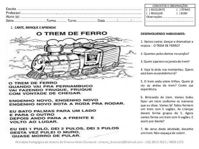 Atividades Pedagogicas Meios De Transportes 1 De Simone Helen Drumond