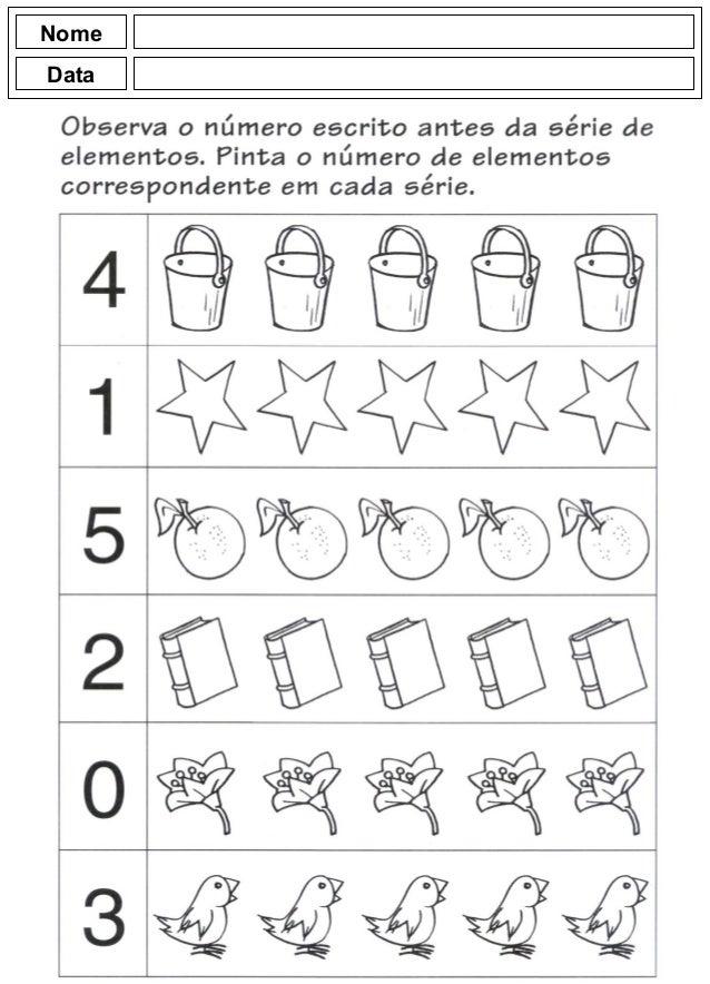 Suficiente Atividades para o jardim de infância WM46