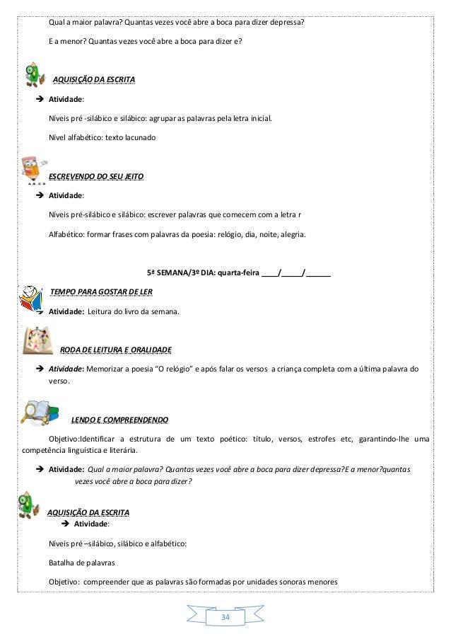 Atividades Sequenciadas 1º Encontro 2013