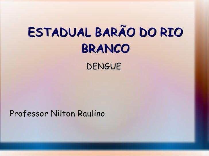ESTADUAL BARÃO DO RIO BRANCO DENGUE Professor Nilton Raulino