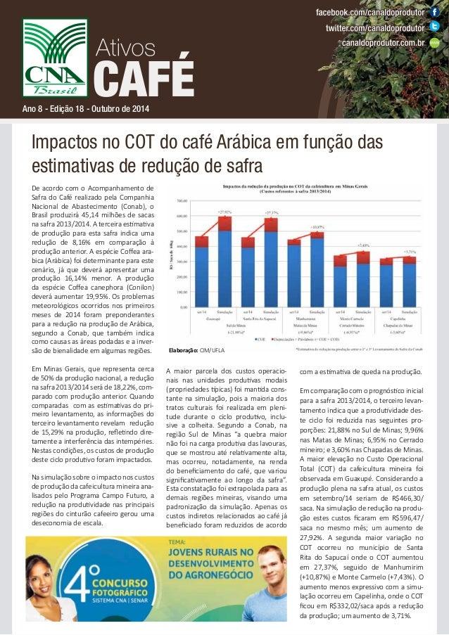 Ano 8 - Edição 18 - Outubro de 2014  Impactos no COT do café Arábica em função das  estimativas de redução de safra  De ac...