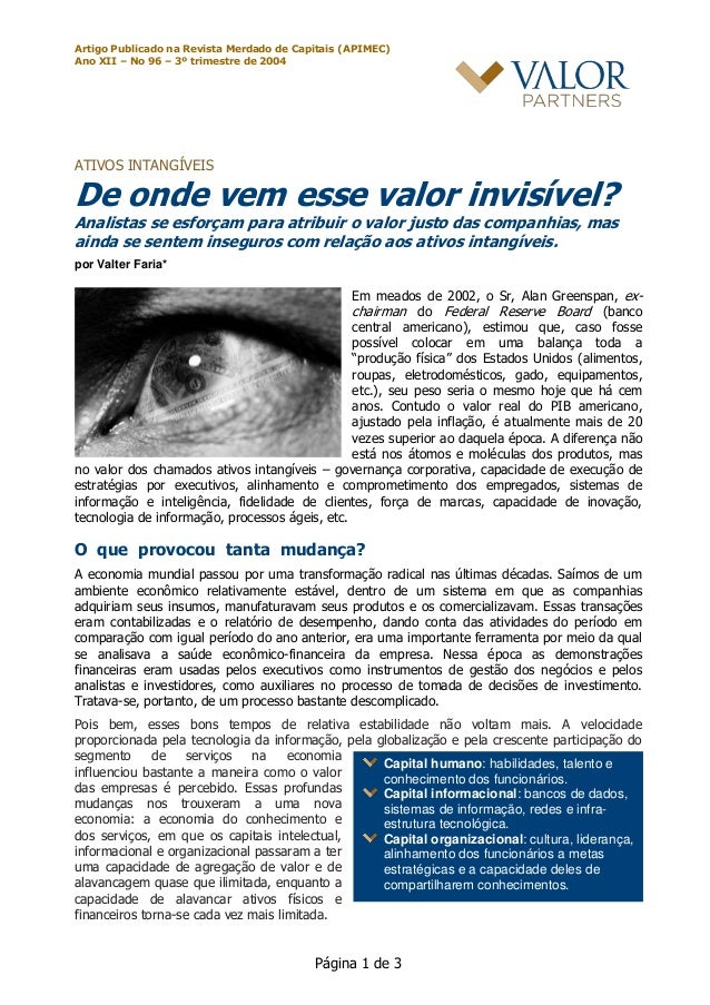 Artigo Publicado na Revista Merdado de Capitais (APIMEC) Ano XII – No 96 – 3º trimestre de 2004 Página 1 de 3 Capital huma...