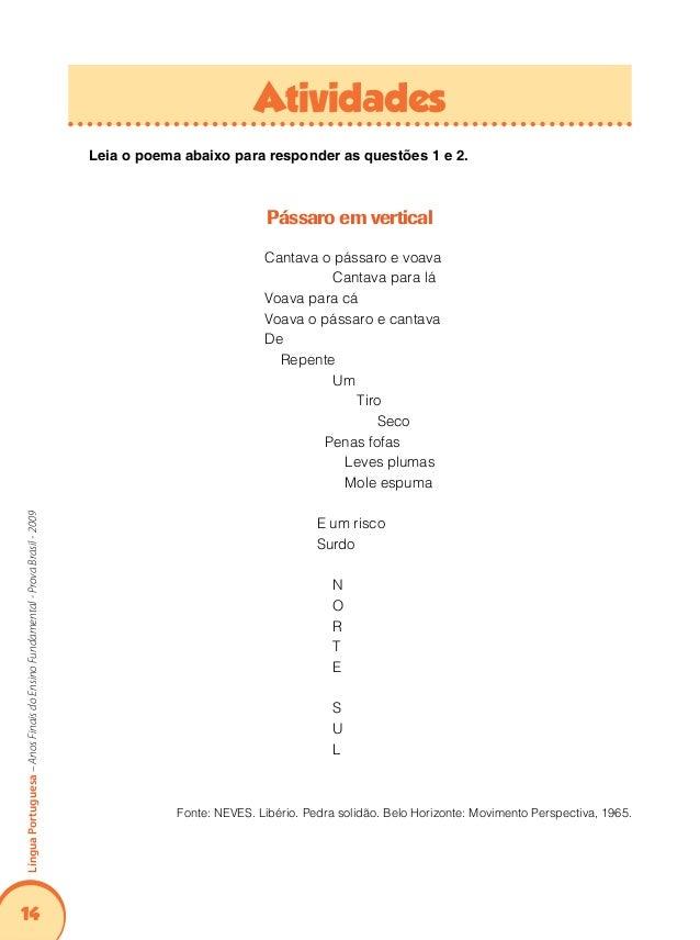 18 LínguaPortuguesa–AnosFinaisdoEnsinoFundamental-ProvaBrasil-2009 Leia o texto abaixo: Debussy Para cá, para lá... Para c...