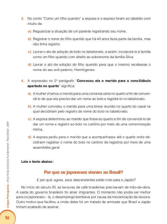 20 LínguaPortuguesa–AnosFinaisdoEnsinoFundamental-ProvaBrasil-2009 - Maravilhoso, meu caro compadre, maravilhoso! Como voc...