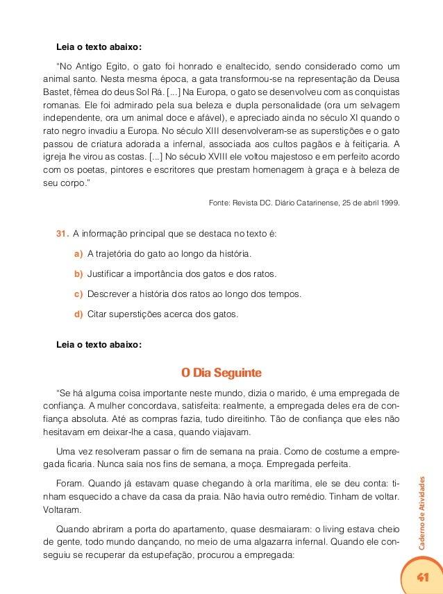 45 CadernodeAtividades Leia o texto abaixo:  O consumo de álcool cresce entre os jovens brasileiros. Muitos não se preocu...