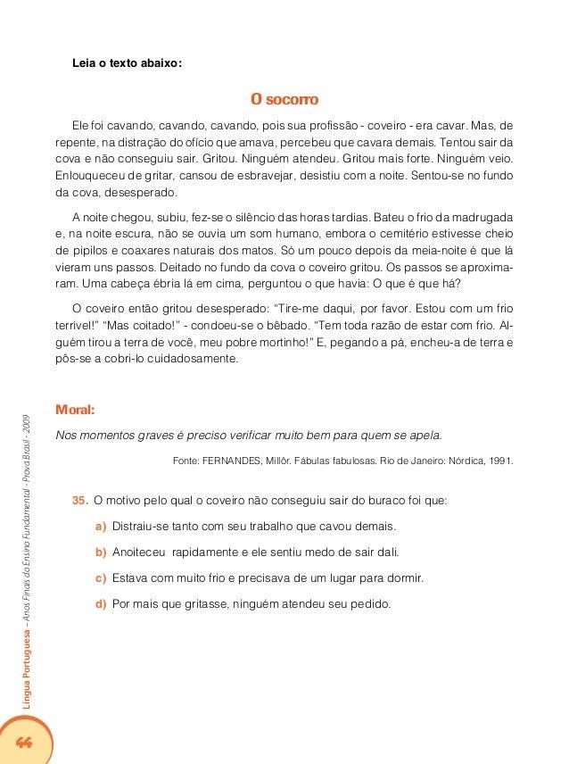 48 LínguaPortuguesa–AnosFinaisdoEnsinoFundamental-ProvaBrasil-2009 Relação entre recursos expressivos e efeitos de sentido...