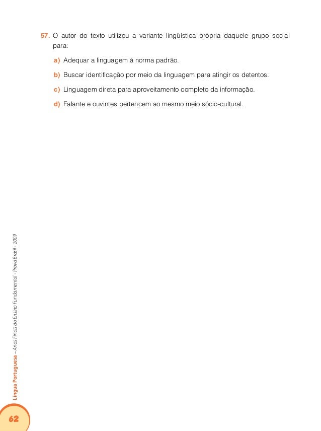 Atividades de Língua Portuguesa- Descritores