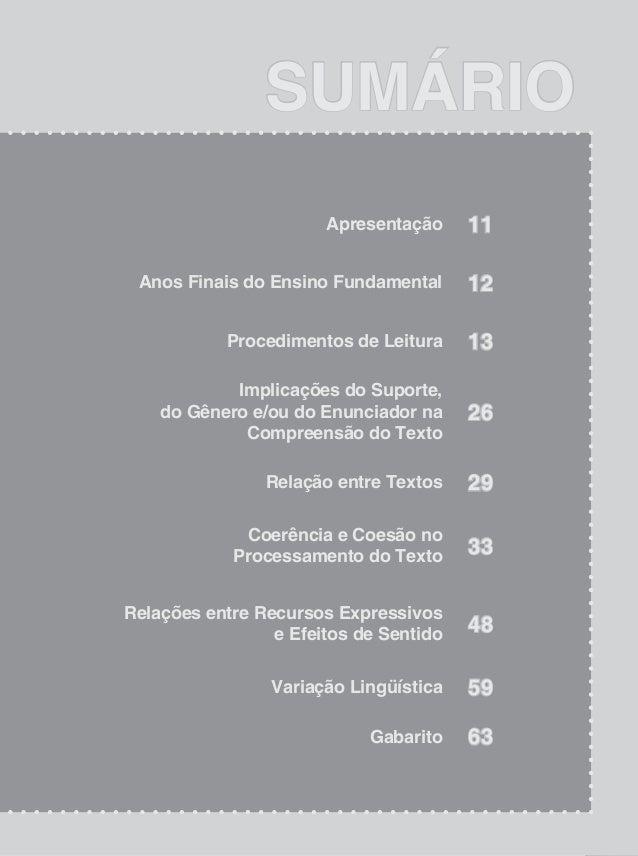 13 CadernodeAtividades Procedimentos de Leitura Na prática da leitura, o aluno deverá localizar informações explícitas e i...