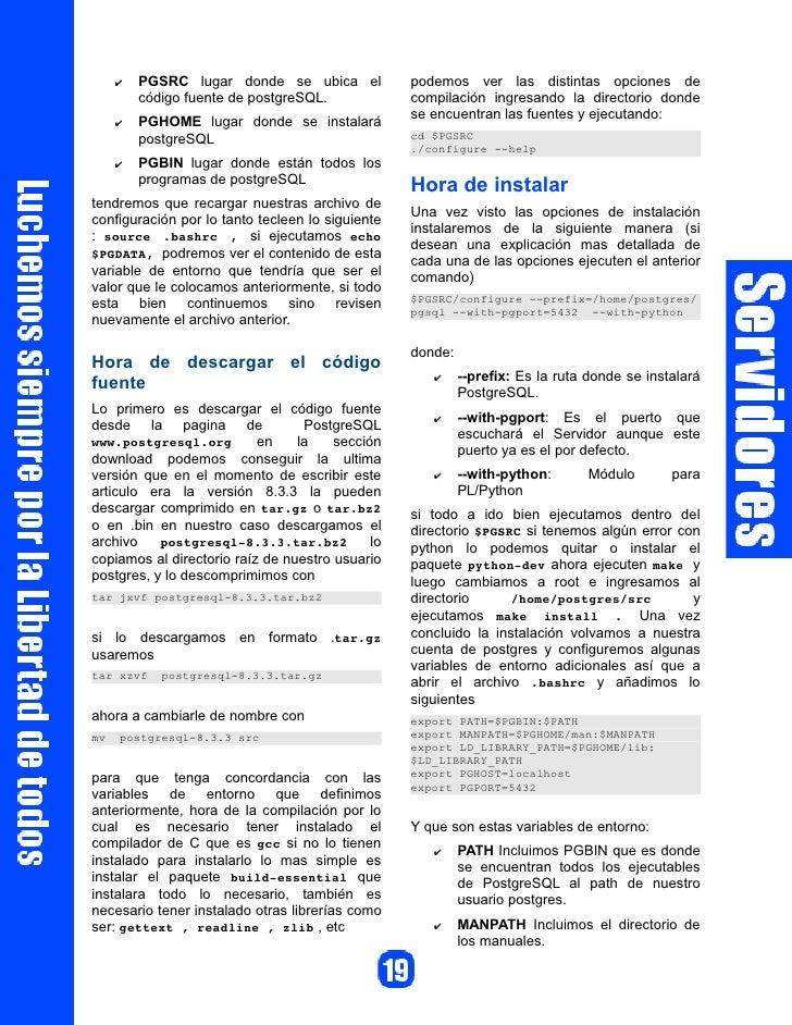 $conf['servers'][0]['host'] = Instalación de PhpPgAdmin                     'localhost';                                  ...