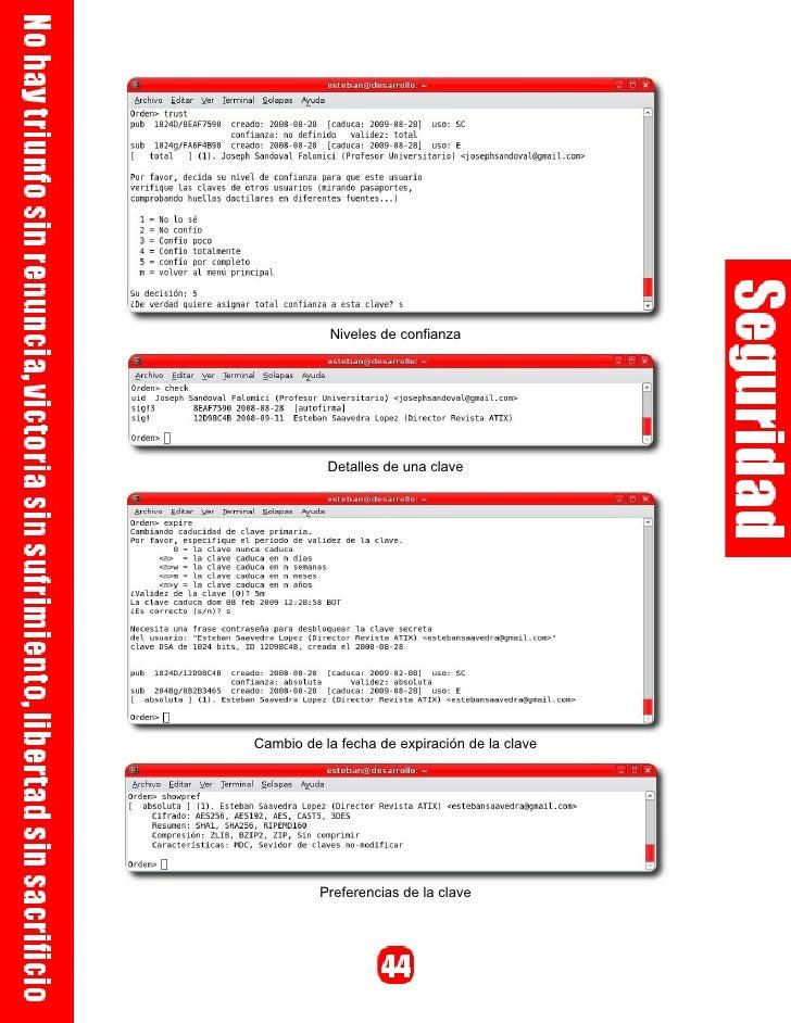Niveles de confianza de una clave                 Detalles de una clave     Configuración de servidores de claves públicos