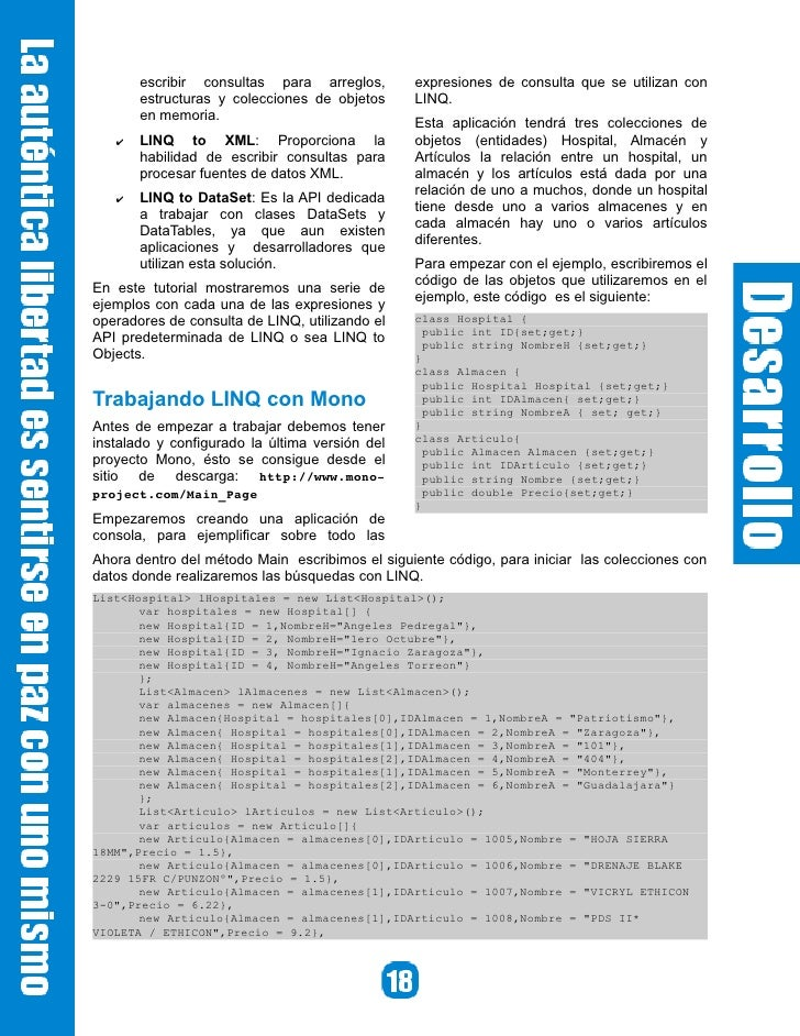 Para ejecutar el programa utilizamos el comando mono Program.exe, y la salida correspondiente se muestra en la imagen sigu...
